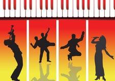 Música e dança novas Ilustração Stock