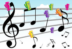 Música e melodia Fotos de Stock Royalty Free