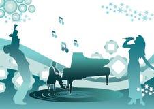 Música e piano Ilustração Royalty Free