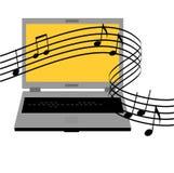 Música em linha Fotos de Stock