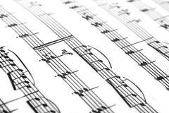 Música em um papel Foto de Stock Royalty Free