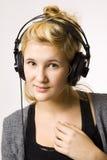 Música en auriculares imagen de archivo