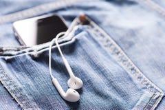 Música en bolsillo foto de archivo libre de regalías