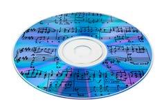 Música en el Cd Foto de archivo libre de regalías