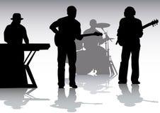 Música en etapa ilustración del vector