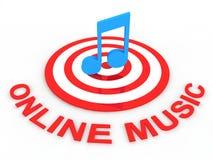 Música en línea Foto de archivo libre de regalías