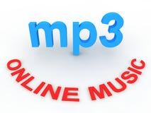 Música en línea Imágenes de archivo libres de regalías