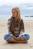 Música en la playa Imagen de archivo libre de regalías