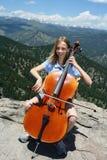 Música en las montañas Imágenes de archivo libres de regalías
