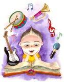 Música en mí stock de ilustración