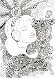 Música en mi corazón stock de ilustración