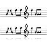 Música en notas ilustración del vector