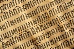 Música envelhecida foto de stock royalty free