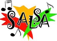 Música/EPS de la salsa Imágenes de archivo libres de regalías