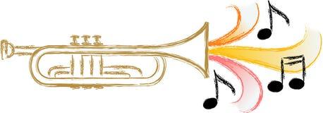 Música/EPS de la trompeta del jazz Imágenes de archivo libres de regalías