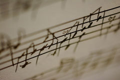Música escrita à mão Imagem de Stock Royalty Free