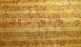 Música escrita mão Foto de Stock