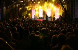 Música - etapa del concierto Foto de archivo