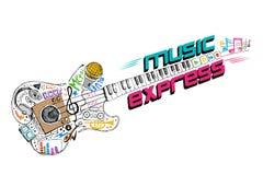 Música expressa ilustração do vetor