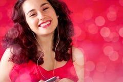 A música faz-me feliz Fotografia de Stock Royalty Free