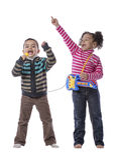 Música feliz dos miúdos Imagens de Stock Royalty Free
