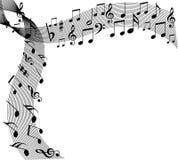 Música floral ilustração do vetor