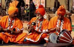 Música folk e dança de encantadores de serpente de Haryana, Índia Fotos de Stock Royalty Free