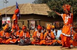 Música folk e dança de encantadores de serpente de Haryana, Índia Imagem de Stock Royalty Free
