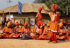 Música folk e dança de encantadores de serpente de Haryana, Índia Imagens de Stock
