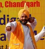 Música folk e dança do Punjabi Imagem de Stock