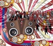 Música futurista da cor Ilustração Royalty Free