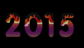 a música 2015 iguala ilustração do vetor