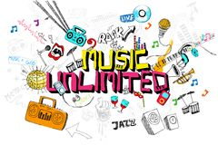 Música ilimitada ilustração royalty free