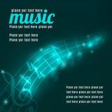 Música, ilustração musical do vetor do uso do fundo ilustração royalty free