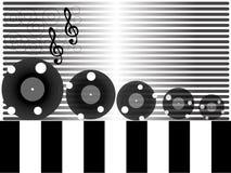 Música, ilustración temática del disco Imagen de archivo libre de regalías