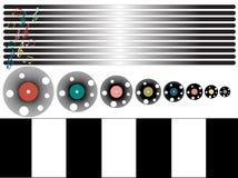 Música, ilustración temática del disco stock de ilustración
