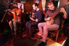 Música irlandesa del Pub imagen de archivo