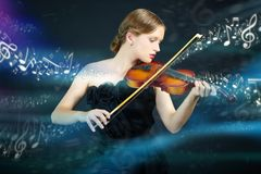 Música mágica Imagen de archivo libre de regalías