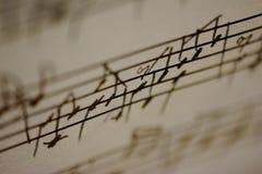 Música manuscrita Imagen de archivo libre de regalías