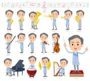 Música men_classic velha do doutor ilustração stock