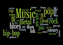 Música moderna Imagem de Stock Royalty Free