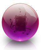 A música na esfera de vidro. ilustração do vetor
