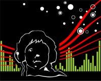 Música no céu ilustração royalty free
