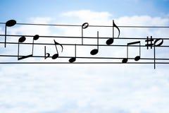 Música no fio Imagem de Stock Royalty Free