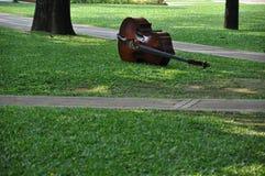 Música no jardim Fotos de Stock Royalty Free