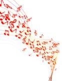 A música nota a bandeira Fotografia de Stock