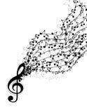 A música nota a bandeira Imagem de Stock