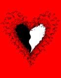 A música nota a bandeira Dia do `s do Valentim Foto de Stock Royalty Free