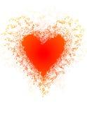 A música nota a bandeira Dia do `s do Valentim Imagem de Stock