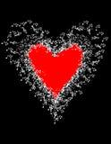 A música nota a bandeira Dia do `s do Valentim Imagem de Stock Royalty Free